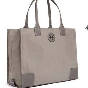 Tory Burch Ella Packable Tote Nylon Gray Travel